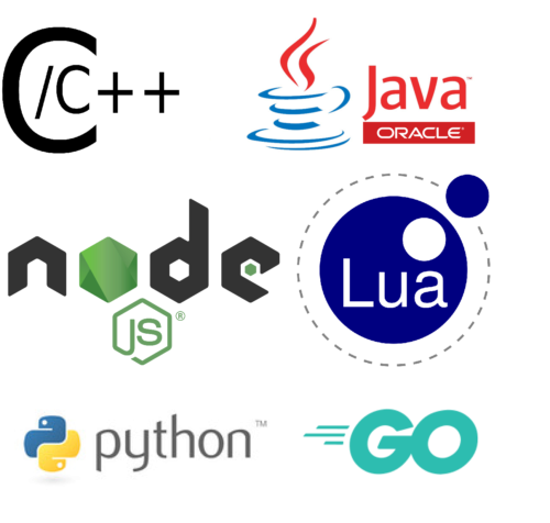 owa4X application development is possible in C/C++, Java, Python, NodeJS, Go and Lua programming languages among others