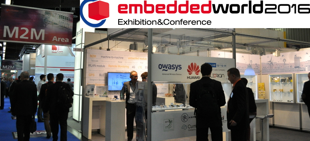 Owasys at Embedded World 2016