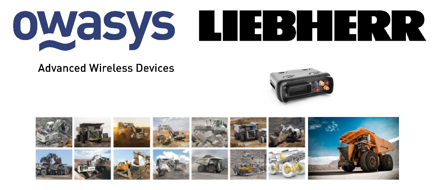 Owasys and Liebherr are glad to announce the final completion and launching of a Cloud Based Telemetry System for Industrial Vehicles