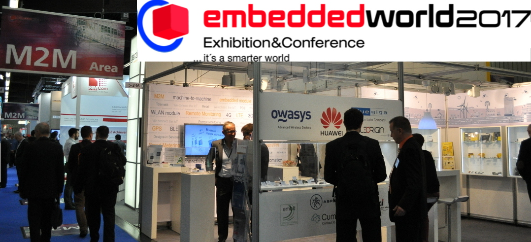 Owasys will be at Embedded World 2017