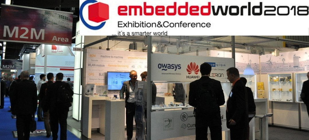 Owasys will be at the Embedded World 2018 presenting the latest News on Linux Embedded Devices.
