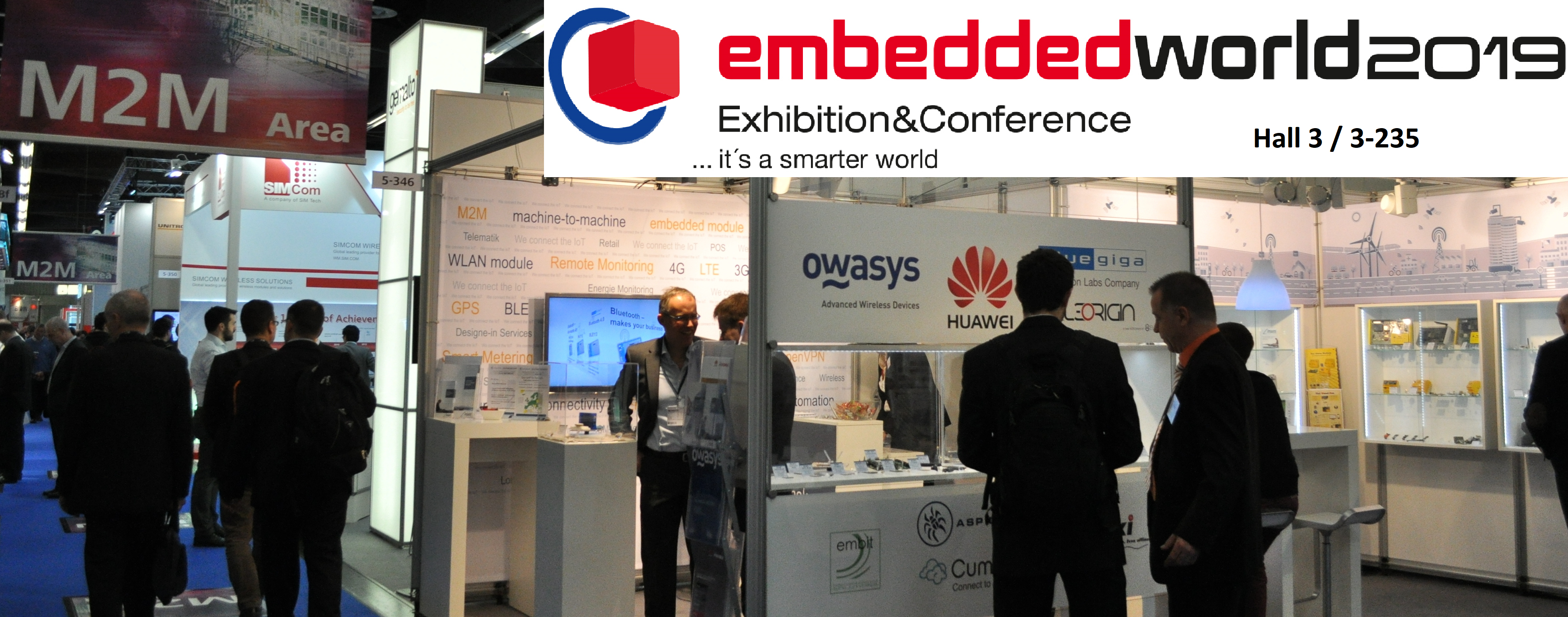 Owasys will be at Embedded World 2019