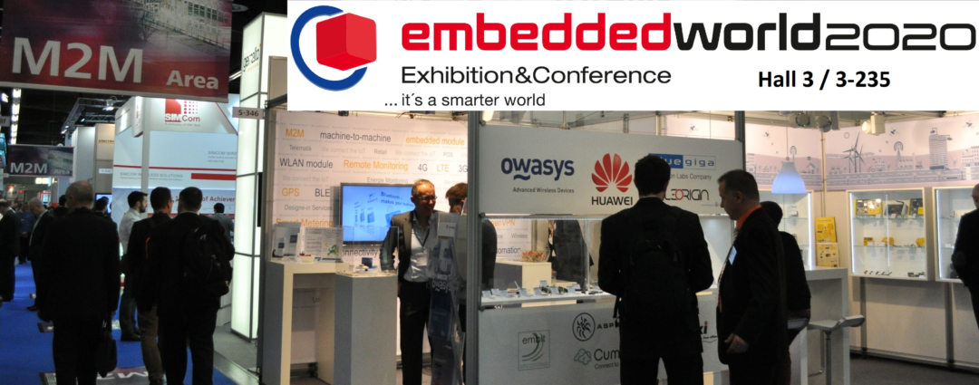 Owasys will be at Embedded World 2020